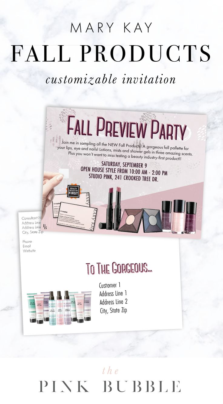 New Fall Product Preview Customizable Invitation! Find it only at www.thepinkbubble.co!