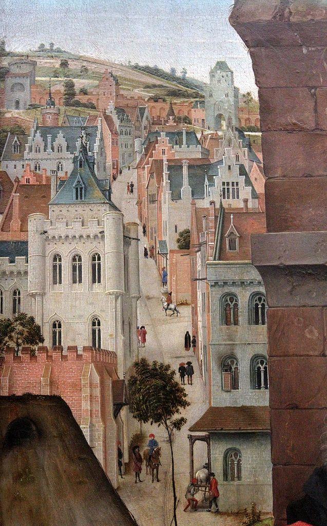 Van der Weyden, St Columba Altarpiece, central panel, detail 4
