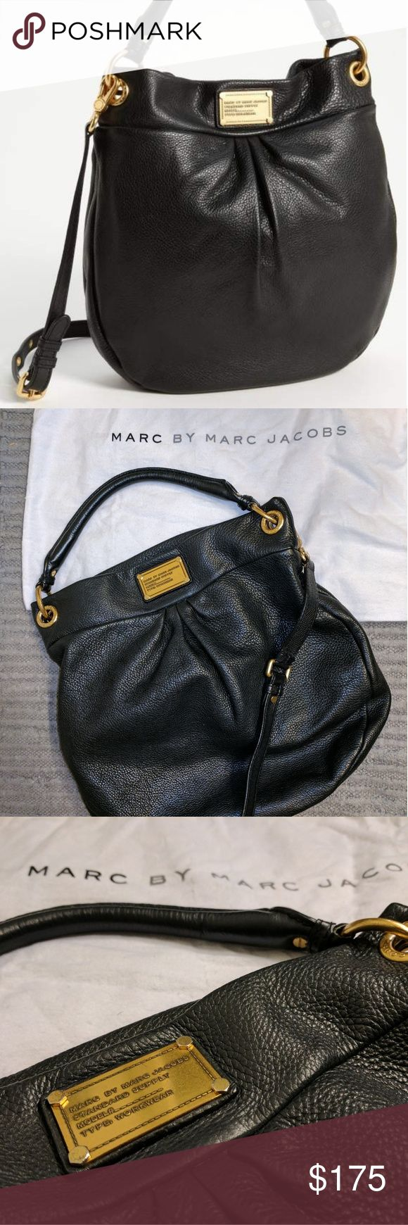 Marc Jacobs Classic Q Hillier Hobo Excellent condition! Authentic Classic Hillier hobo bag by Marc by Marc Jacobs. Comes with dust bag. Interior is in excellent condition. Has a few light signs of wear on the straps and gold hardware per the photos, but otherwise no flaws - a beautiful and well cared for bag. Smoke free home. Marc By Marc Jacobs Bags Hobos