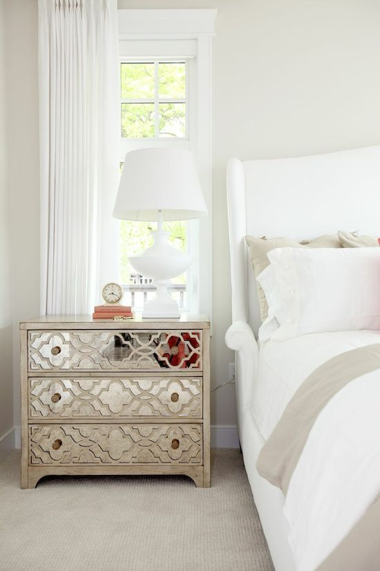 Glam! Loving this bedroom by Jillian Harris.