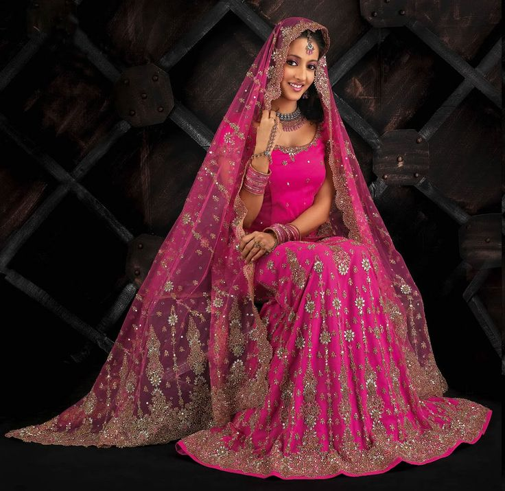 Pink Indian Bridal dress