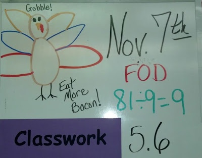 Fern Smith's Classroom Ideas! Fact of The Day on the Board ~ FOD $0