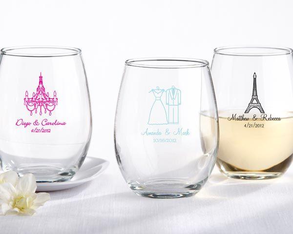 Stemless Wine Glass: Ideas, Gift, Wedding Favors, Weddings, Beaker, Bridal Shower, Personalized Stemless, Stemless Wine Glasses, Wineglass