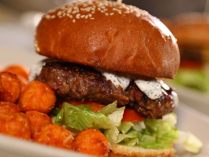 Habanero Parmesan Bacon Burger recipe from Diners, Drive-Ins and Dives via Food Network  *NOTE* Real recipe on show uses YOGURT not cottage cheese