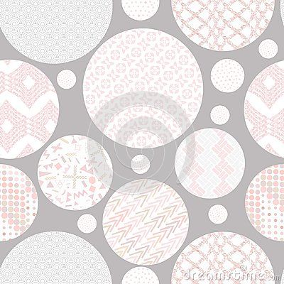 Hand drawn marker and ink seamless circles patterns. Hand drawn circles, triangles, squares, snowflakes, hearts. Scribble for children