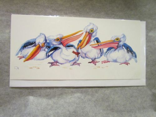 Australian Pelican Picture Greeting Card Blank Inside ART BY Lynn Naismith | eBay
