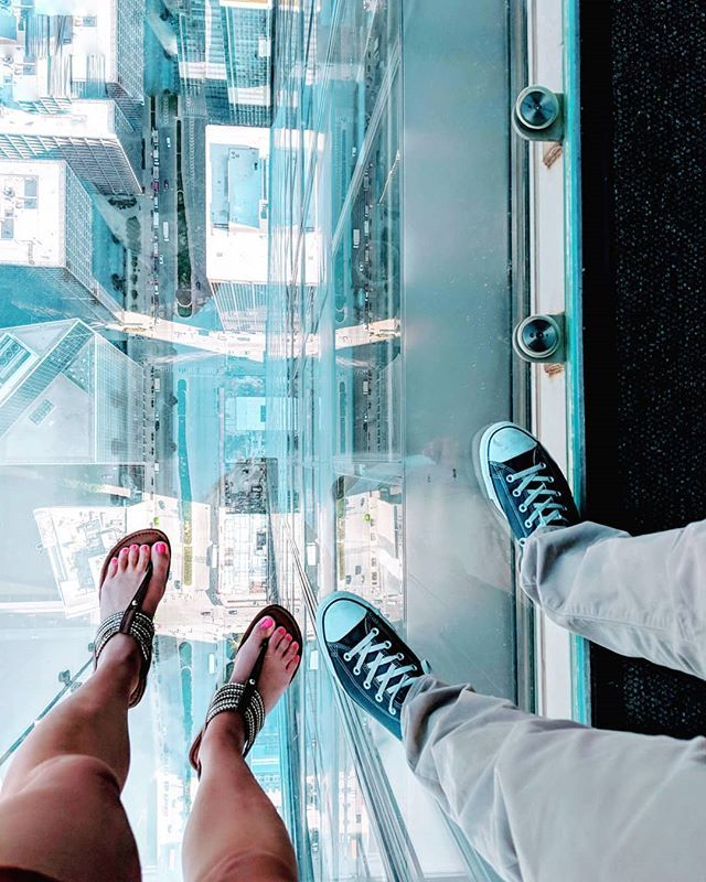 Don T Look Down Here S To The Next Ten Years Of Stepping Out Of My Comfort Zone At 103 Stories Sears Willis Tower Is Willis Tower Instagram Comfort Zone