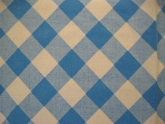 Checkered Cloth Tablecloth : Gingham Tablecloth, Table cloth, Blue and White Check, Diner, Cafe, P ...