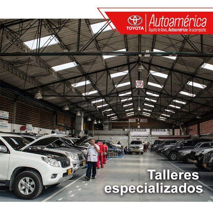 Contamos con talleres especializados para tu #Toyota donde puedes esperar cómodamente. Nuestros servicios de mecánica general los encuentras en #AutoaméricaIndustriales