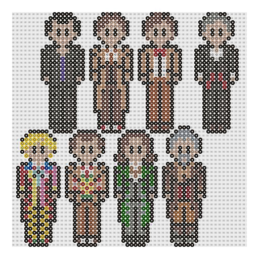 Doctors 2 - Doctor Who perler bead patterns by geek-2perlerbeads