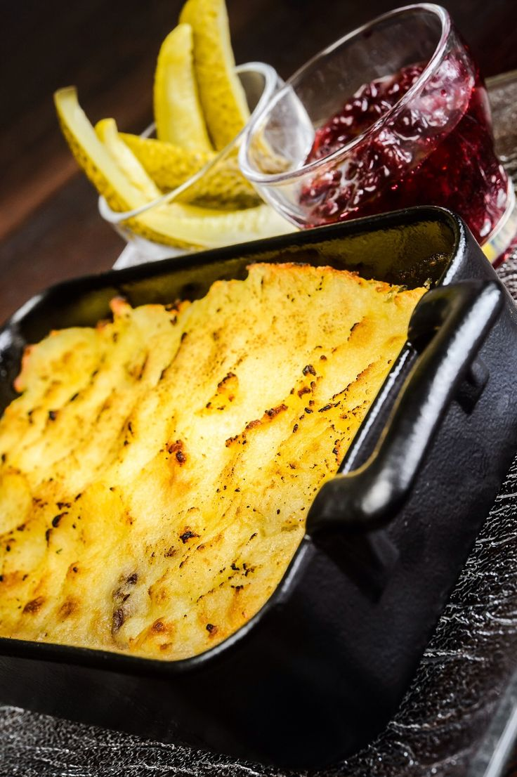 You can never go wrong with this traditional Finnish dish - Sautéed reindeer with potato gratin crust and lingonberry jam