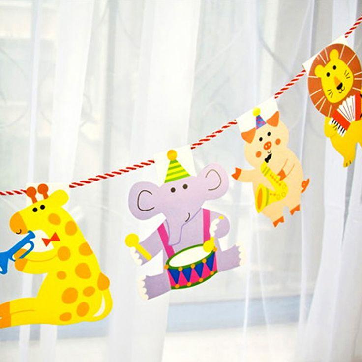 Купить товар 2 М Мультфильм Животных День Рождения Декор Баннер Дети Животных Большая Счастливая Семья Душа Ребенка Партийные Флаги, Скобка Гирлянды Полосатый Бумаги флаги в категории Баннеры и Флаги на AliExpress. Boys Girls Cartoon Inflatable Helium Foil Balloon Baby Birthday Paty Christmas Event Decoration Gifts Toys For Ki