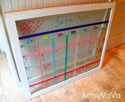 Artsy VaVa: Washi Tape Window Calendar :: I have windows in the attic that I could use.