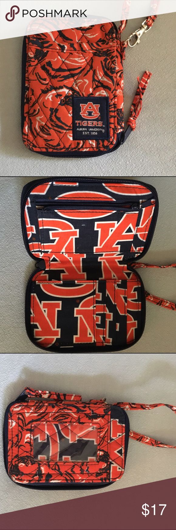 Auburn Tigers Wristlet This is in perfect condition. Used once. Will hold cash, cards, ID and possibly small phone. Bags Clutches & Wristlets