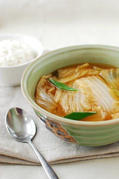 Baechu Doenjang Guk (Korean Soybean Paste Soup with Napa Cabbage) - Korean Bapsang