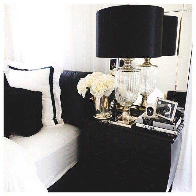 U201c| Elegant Bedroom Styling By The Beautiful @njwhite Adore The  @abodeaustralia Bedding And · Bedroom IdeasBedroom InspoBedroom DesignsBlack  And WhiteBlack ... Part 40