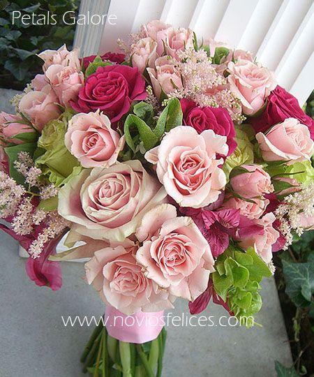 Bouquet romántico con rosas vintage en color rosa pastel