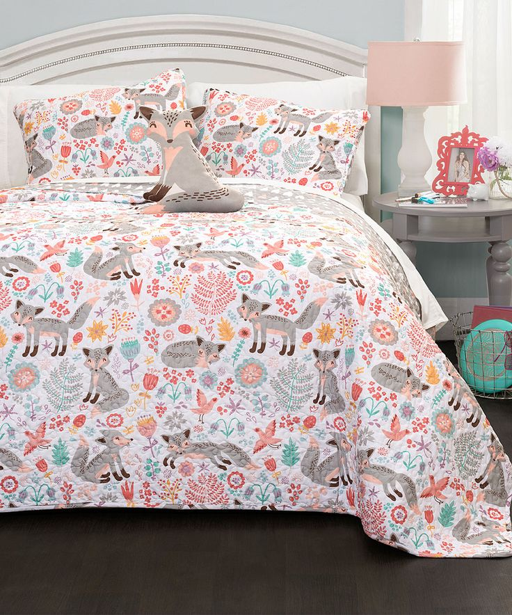 Zulily Home Decor: Look What I Found On #zulily! Gray Pixie Fox Quilt Set By