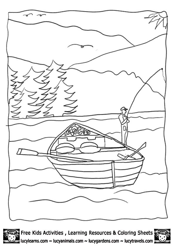 coloring pages on lake - photo#10