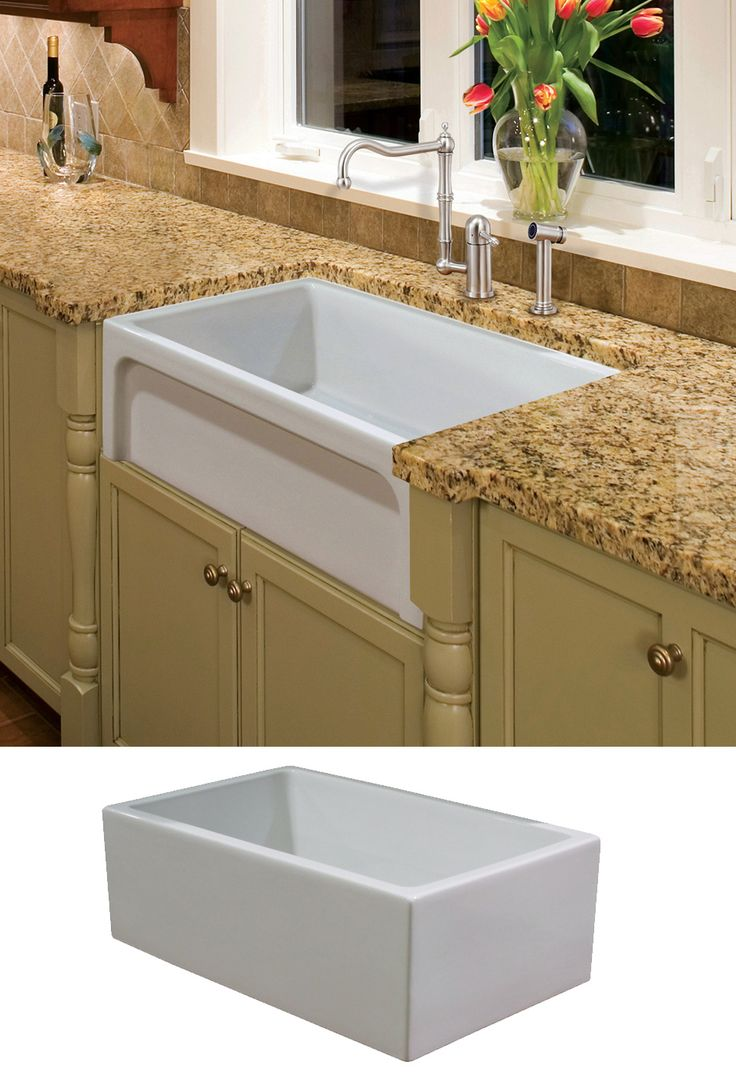 reversible fireclay farm sink offers two designs styles in one with the durability and beauty of - Kohler Waschbecken Schneidebrett