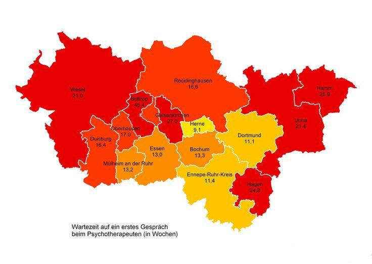 Kart over Ruhr