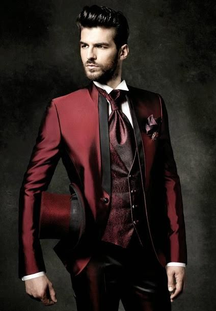 New Arrival Slim Fit Groom Tuxedos Mandarin Lapel Men'S Suit Burgundy Groomsman/Best Man Wedding/Dinner Suits Jacket+Pants+Tie+Vest J920 Mens Tuxedos Wedding Mens Wedding Tuxedos Style From Wholesalers888, $85.87| Dhgate.Com