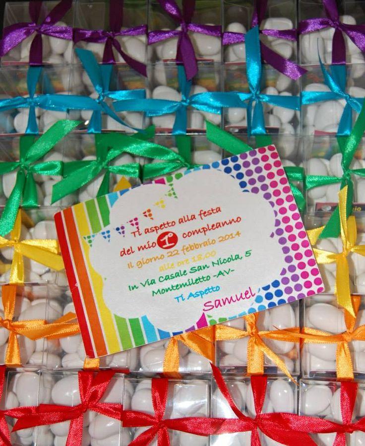 Rainbow party favors & invitation