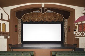 Interior view of the Picture House Cinema, Campbeltown, showing auditorium from north east.