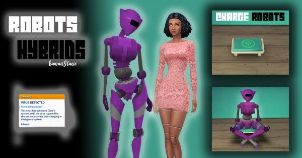 Mod The Sims: Robot and Hybrid Traits by kawaiistacie • Sims