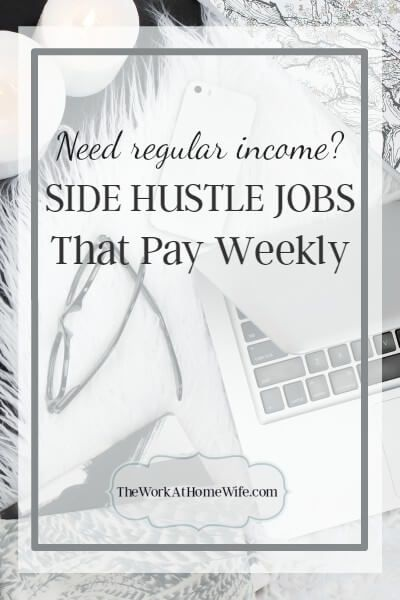 For many of those looking to work from home, getting a regular paycheck rolling in ASAP is the top priority. These are work from home jobs that pay weekly.