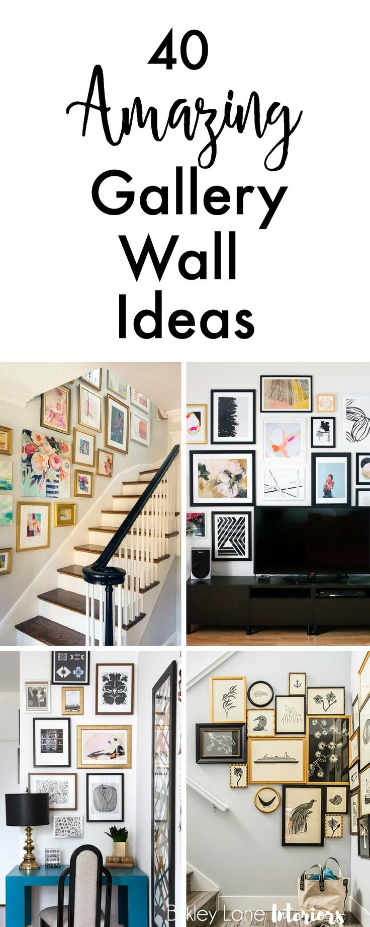 If you're looking for gallery wall ideas and inspiration, search no more! I've collected 40 amazing gallery ideas that will definitely get you excited! Gallery wall, gallery wall ideas, gallery wall layout, gallery wall living room, how to do a gallery wall, how to create a gallery wall