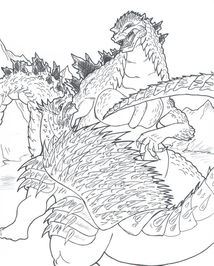 Godzilla vs Anguirus by ChaosGhidorah on DeviantArt in