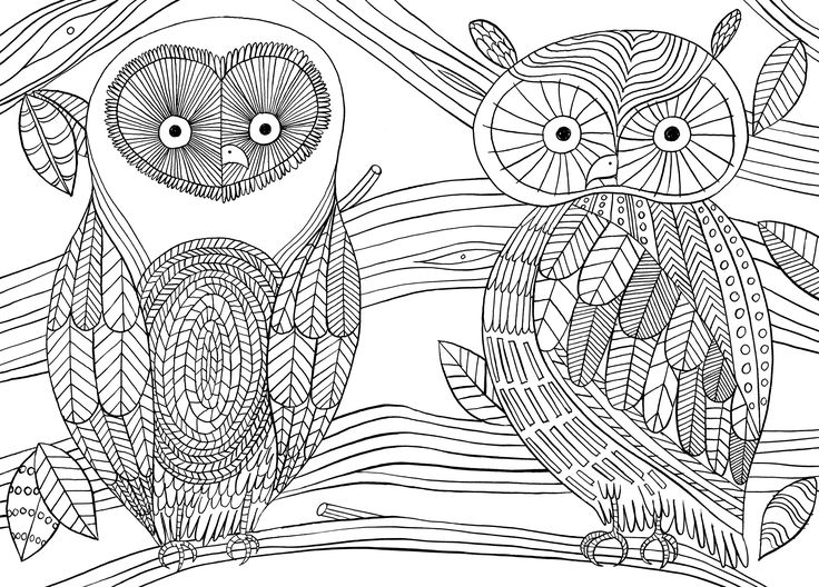 17 best images about buhos 01 colorear on pinterest for Free mindfulness coloring pages