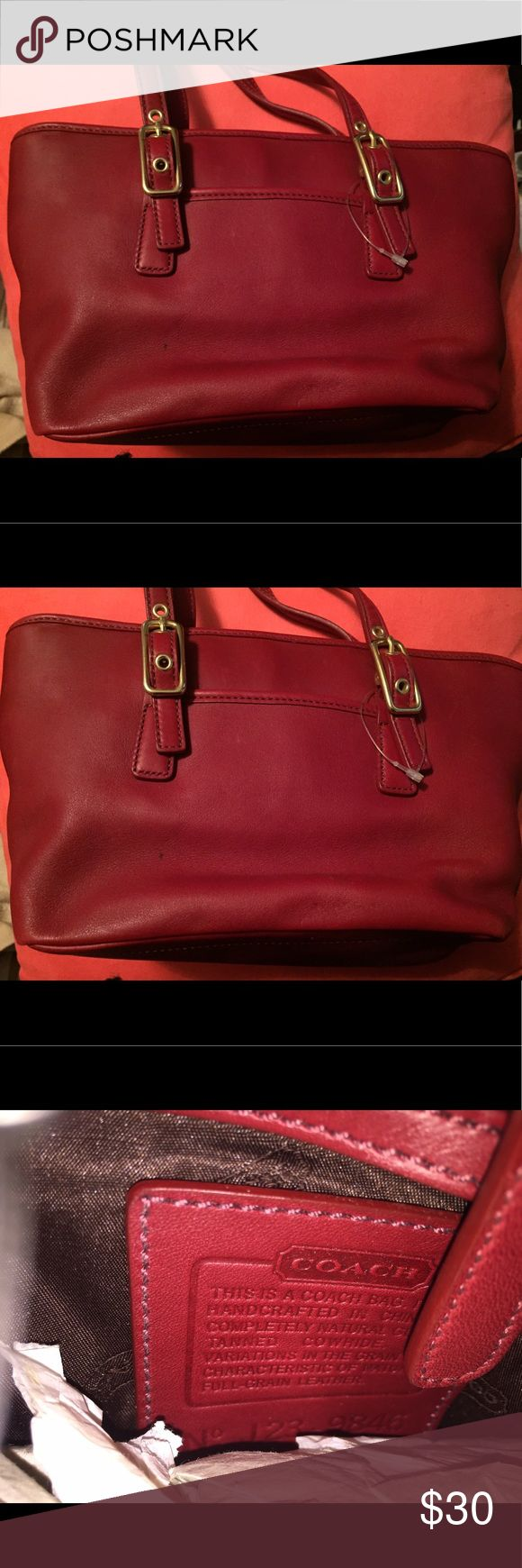 Coach Leather Bag Brand New Red Leather Coach Bag Coach Bags Satchels