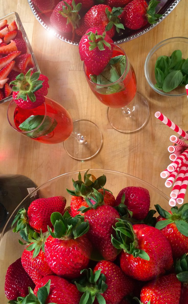 A Spirited Strawberry Spin on the Kir Royale