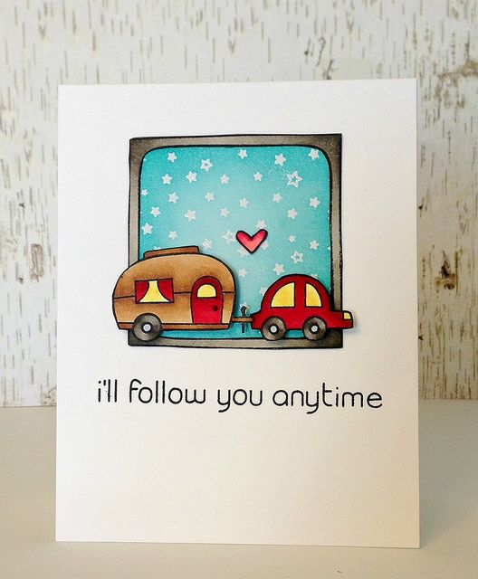 Lawn Fawn - Happy Trails, #Awesome, Starry Backdrops _ Really fun card by Samantha! _ i'll follow you anytime card - ls | Flickr - Photo Sharing!
