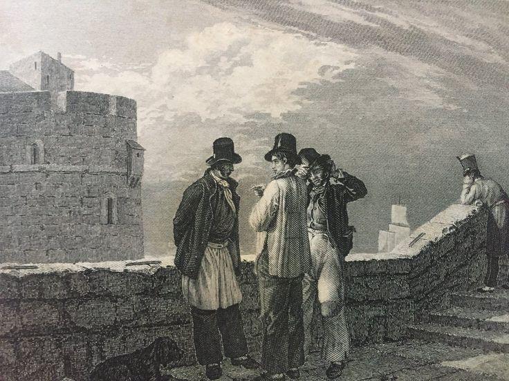 Annons på Tradera: Die Matrosen Antik Etsning Topografisk Plansch 1840 Das kleine Universum