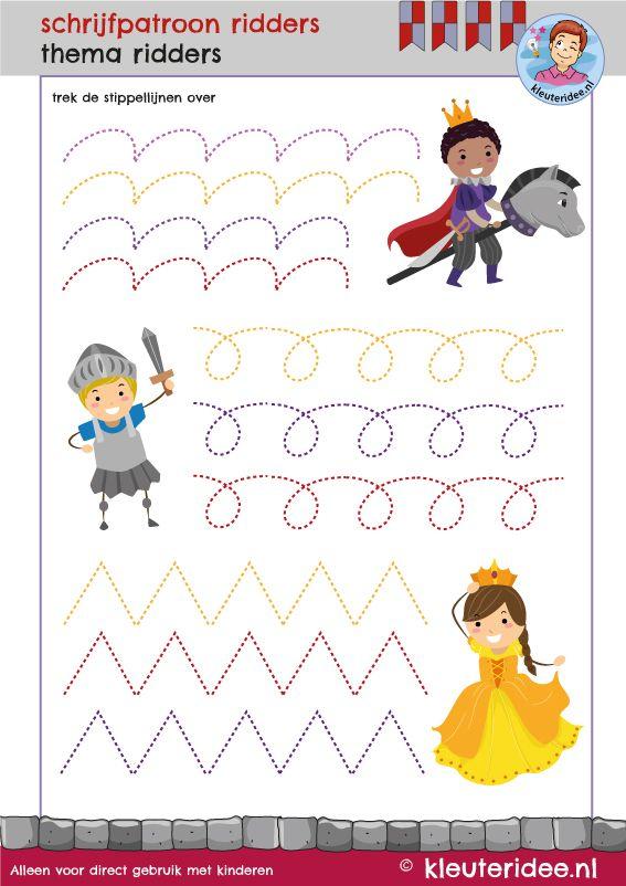 Rekenen met kleuters, thema ridders