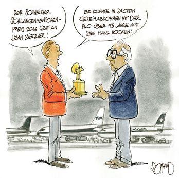 """Karikaturist Schaad nimmt im Tages-Anzeiger ein Motiv unseres Buchs """"Schweizer Terrorjahre"""" auf - tagesanzeiger.ch"""