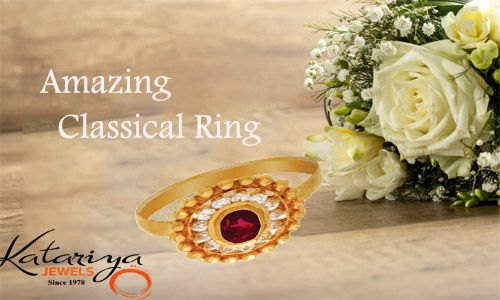 Royal Gold Ring in 22Kt with Red Stone  Buy Now : http://buff.ly/1mCFmp6 COD Option Available with Free Shipping in India