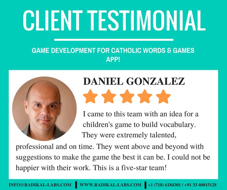 A remarkable review from a satisfied client for game development. Read the full review here: https://goo.gl/fx4lVt