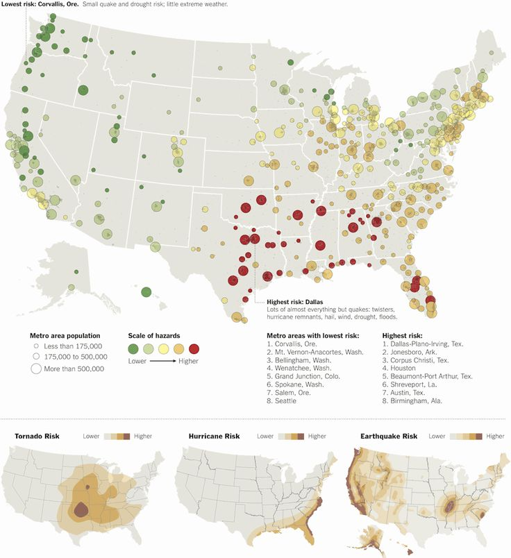 Map details disaster hot spots (and cool spots) across the country. Where does your area fall?
