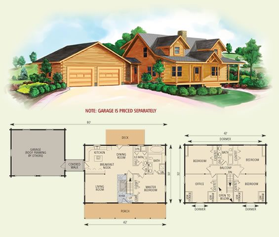 northridge III log home and log cabin floor plan. WANT!!!!