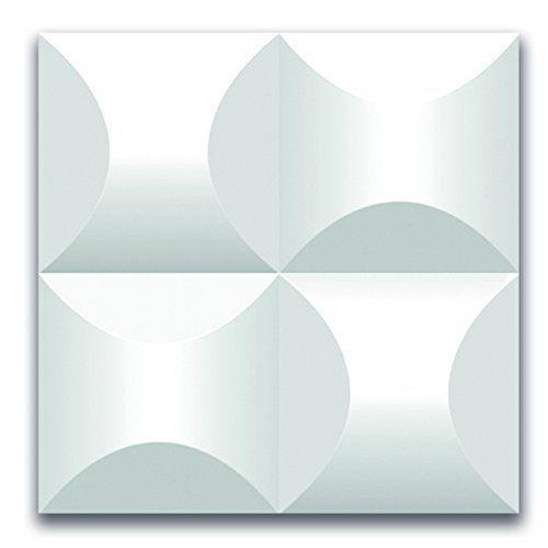 Styling Panel Wave - 1 Wandpaneel mit Relief aus robustem recyclingfähigem Kunststoff - Deckenpaneele Fliesen Wandbezug Wandverkleidung Wanddeko Wandplatten - Alternative zur Tapete
