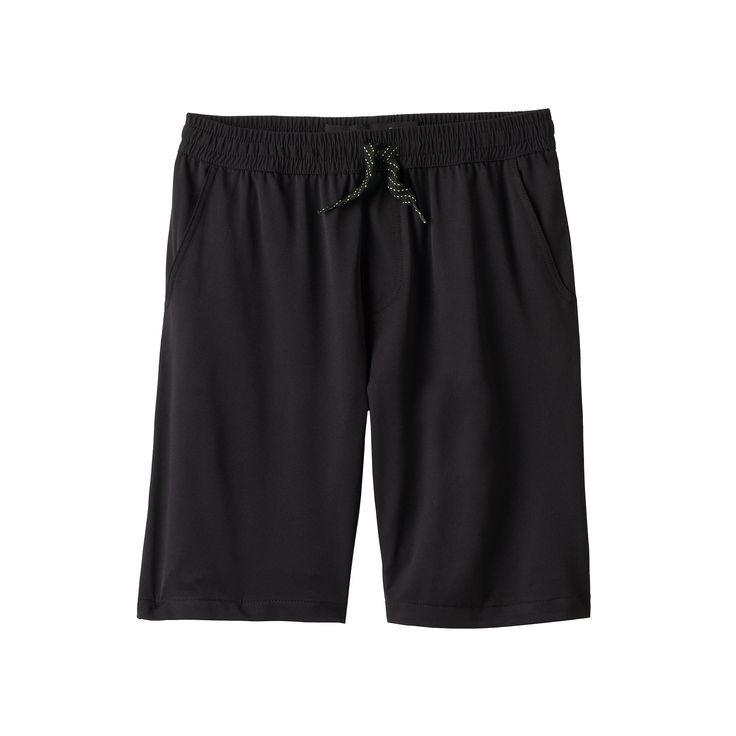 Boys 8-20 Plugg Incentive Hybrid Stretch Microfiber Shorts, Boy's, Size: Medium, Grey (Charcoal)