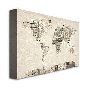 Vintage Postcard World Map (Various Sizes), More Info Here: http://bacheloronabudget.com/other/artwork/wall-art/