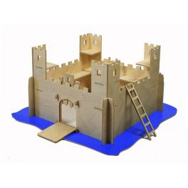 Castle with a movable grating, a drawbridge, surrounded by a moat, equipped with 2 ladders. Made by Neo-Spiro.