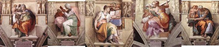 Le sibille hanno ispirato l'arte cristiana dall'XI secolo in numerosi cicli pittorici, scultorei ed incisori. Esse sono normalmente raffigurate come la controparte femminile dei profeti; l'esempio più famoso si trova nella volta della Cappella Sistina, affrescata da Michelangelo.