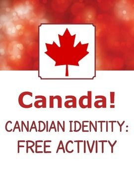 """Free activity from my """"Canada! Canadian Identity - 14 Readings Passages and Activities"""". Includes 8 discussion or writing prompts on the topic of what it means to be a Canadian."""