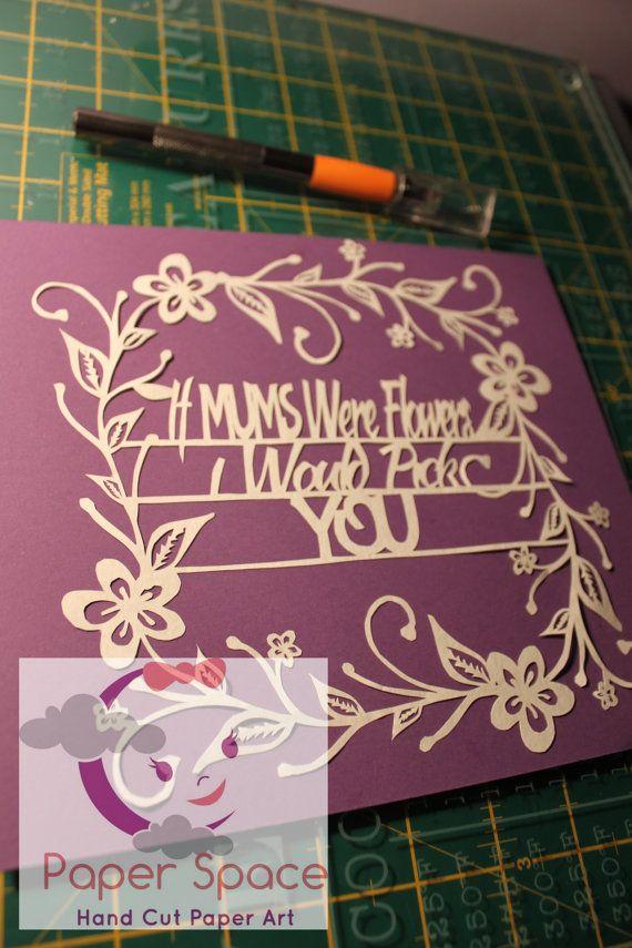 mum mother flowers papercut papercutting template